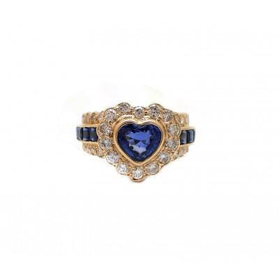 Heart Shape Sapphire Rings