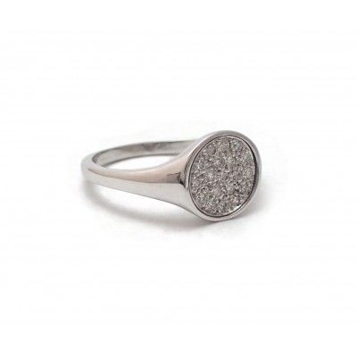 "Diamond ""Signet"" Ring"