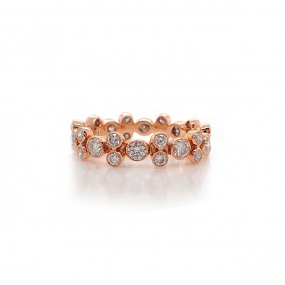 Bubble Diamond Ring