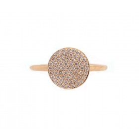 Yellow Gold Diamond Disc Ring