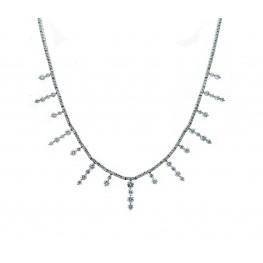 Sun Beam Diamond Necklace