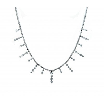 Sun Beam Diamond Necklace