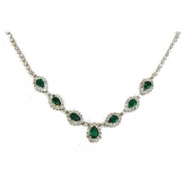 Graceful Emerald Necklace