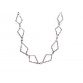 Geometric Diamond Necklace