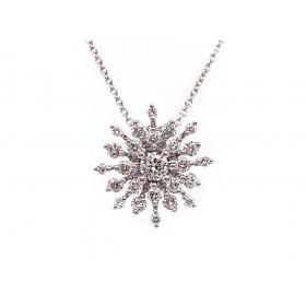 Snowflake Diamond Pendant