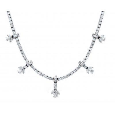 Hanging Flowers Diamond Necklace