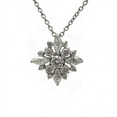 Stunning Snowflake Diamond Pendant