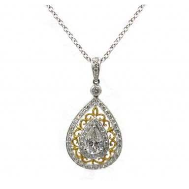 Pear Shape Two Tone Pendant