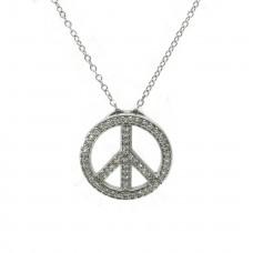 Peace Sign Pendant - Large
