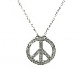 Peace Sign Pendant - Large