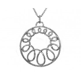 Infinity Swirl Diamond Pendant