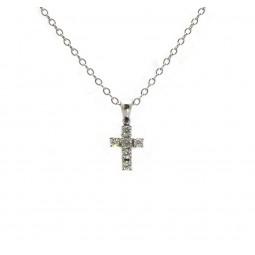 Diamond Cross Pendant - Small