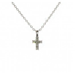 Diamond Cross Pendant - Small