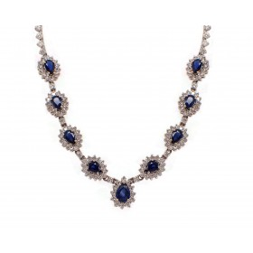 Gorgeous Sapphire and Diamond Necklace