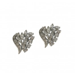 Mixed Shapes Diamond Earrings