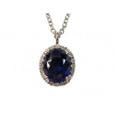Elegant Sapphire and Diamond Necklace