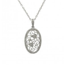 Antique Style Filigree Pendant