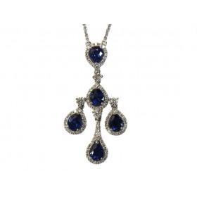 Triple Drop Sapphire Necklace