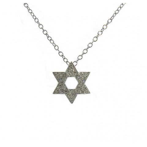 Diamond Star of David Pendant