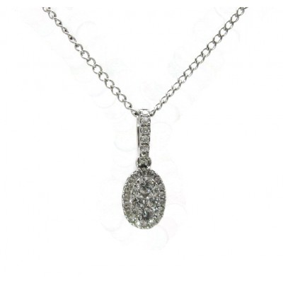 Oval Diamond Cluster Pendant