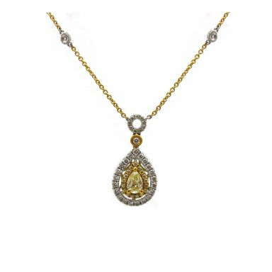 Antique Style Pear Shape Pendant