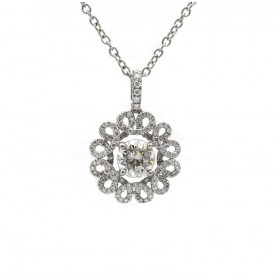 Diamond Wreath Pendant