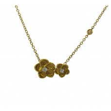 Yellow Gold Flower Pendant