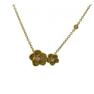 Yellow Gold Flower Pendant