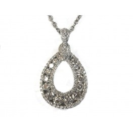 White Gold Rain Drop Necklace