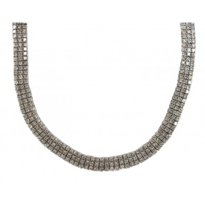 Triple Tiered Diamond Necklace