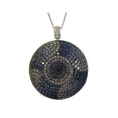 Exquisite Sapphire Medallion