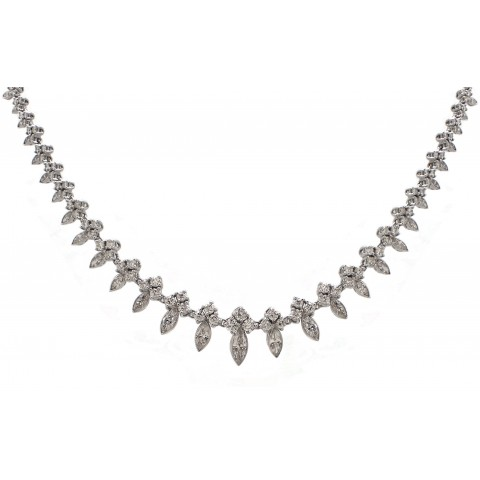 Marquise Eternity Necklace