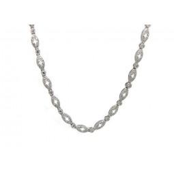 Antique Style Diamond Link Necklace