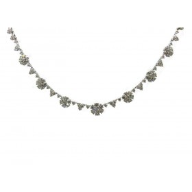 Brilliant Flowers Diamond Necklace