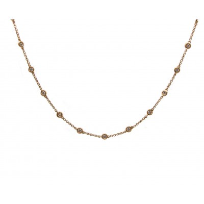 Diamonds by the Yard Necklace - Rose Gold