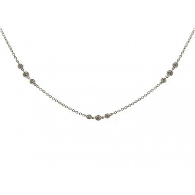 Diamonds by the Yard Necklace - White Gold