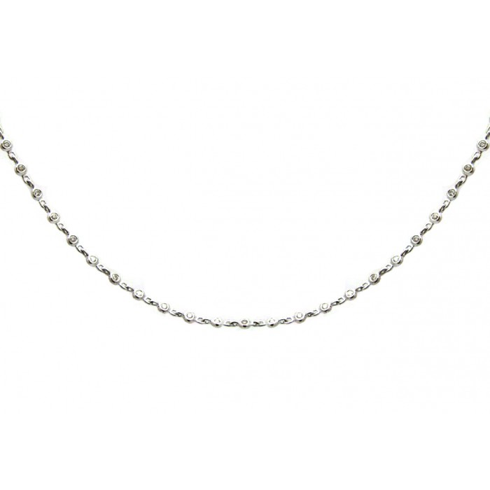 Diamonds by the yard necklace white gold for Diamonds by the yard ring