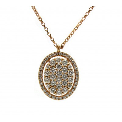 Oval Rose Gold Pendant