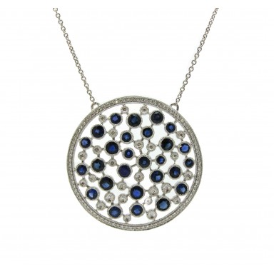 Diamond and Sapphire Web Medallion