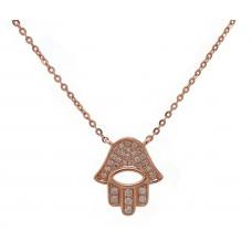 Hamsa - Rose Gold and Diamond Encrusted Hand