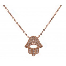 Hamsa - Rose Gold and Diamond Encrusted Hand