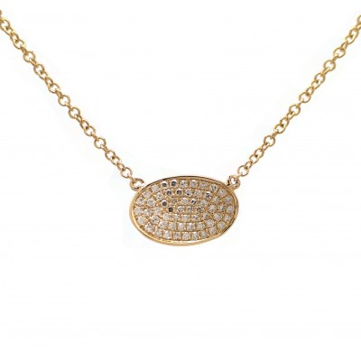Yellow Gold Oblong Charm