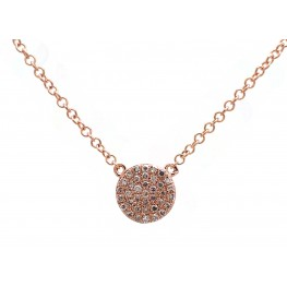 Rose Gold Disc Pendant