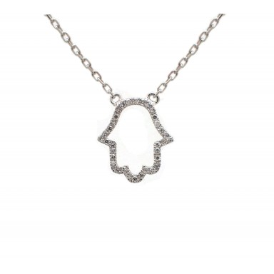 Hamsa - White Gold and Diamond Hand
