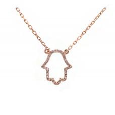Hamsa - Rose Gold and Diamond Hand