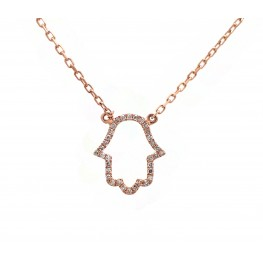 Hamsa - Rose Gold and Diamond Hand