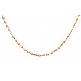 Rose Gold Diamonds by the Yard Necklace
