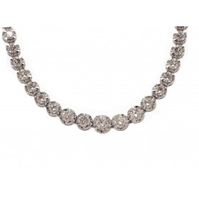 Classic Diamond Riviera Necklace