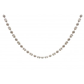 Illusion Emerald Cut and Round Diamond Necklace