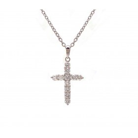 Diamond Cross Pendant - Medium